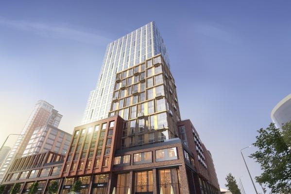 Строящийся комплекс апартаментов «Свобода Residence» в центре Екатеринбурга