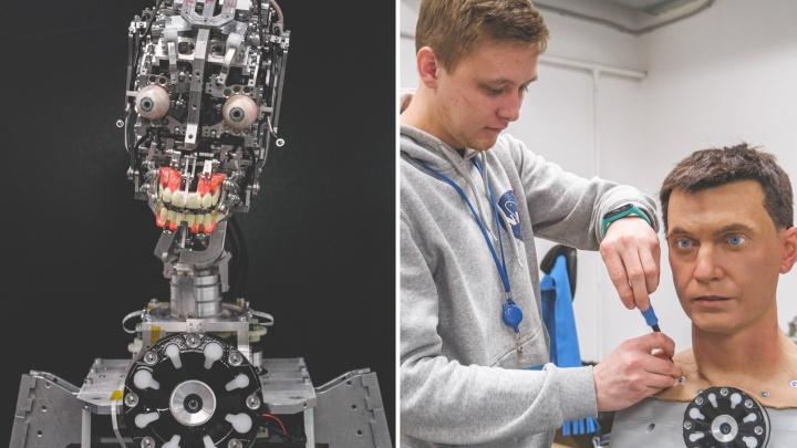 Машина с человеческим лицом: как в Перми роботов-андроидов делают похожими на людей
