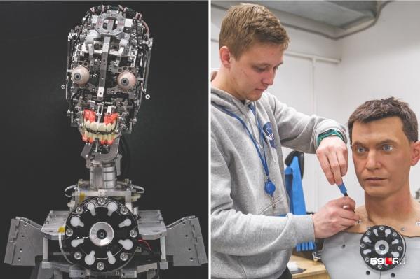 В Перми собирают роботов-андроидов (фото слева) и помогают им обрести человеческий облик
