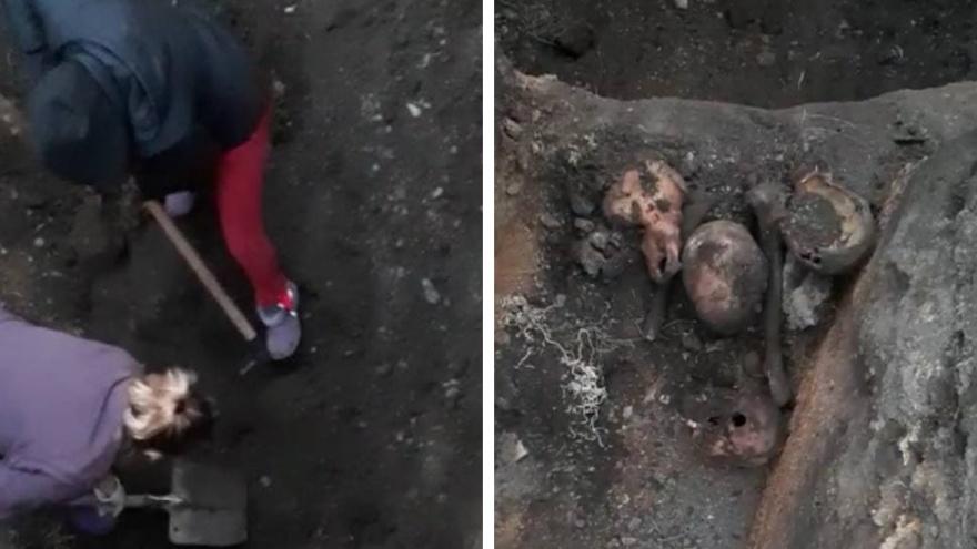 """«Нам сказали: """"Выкапывайте и выбрасывайте в мусорку""""»: в центре Челябинска нашли черепа и скелеты"""