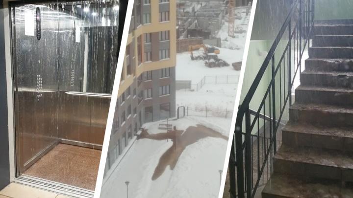 В Краснолесье холодная вода залила 4 этажа дома, в котором дали квартиру летчику Юсупову