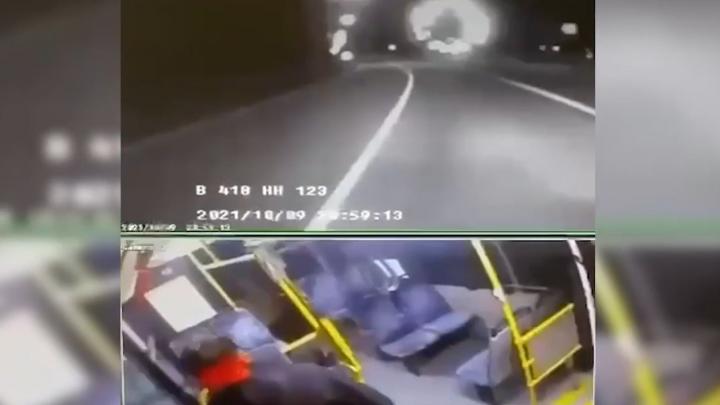 Момент аварии с Ксенией Собчак попал на камеры