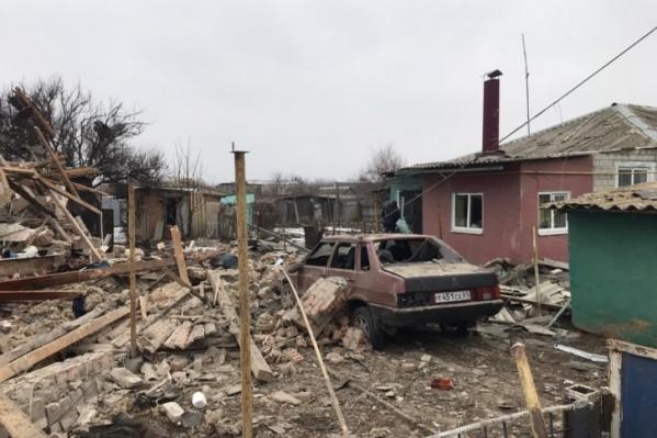 После взрыва от дома остались только руины