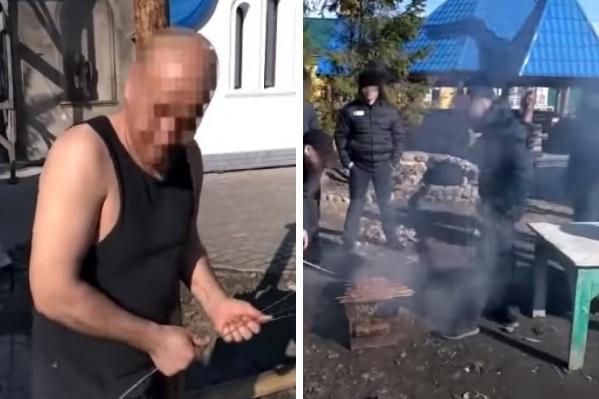 Видео с отдыха заключенных было записано от первого лица