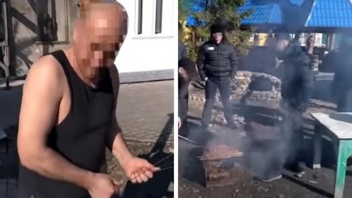 Прокуратура проверила колонию в Ярославской области, в которой заключенные жарили шашлыки