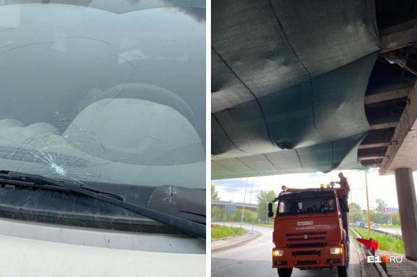 Фирма, ремонтирующая мост на Луганской, заплатит за поврежденную легковушку