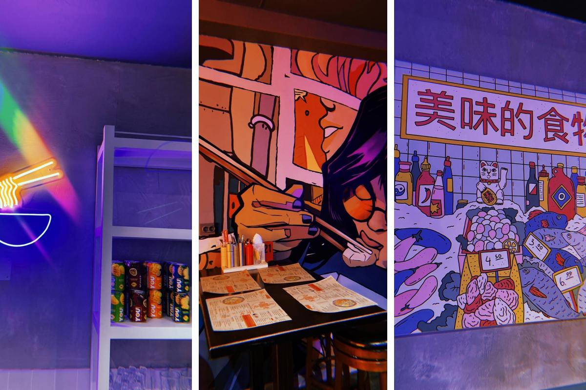 Плакаты и рисунки на стенах — важная составляющая заведений азиатской кухни