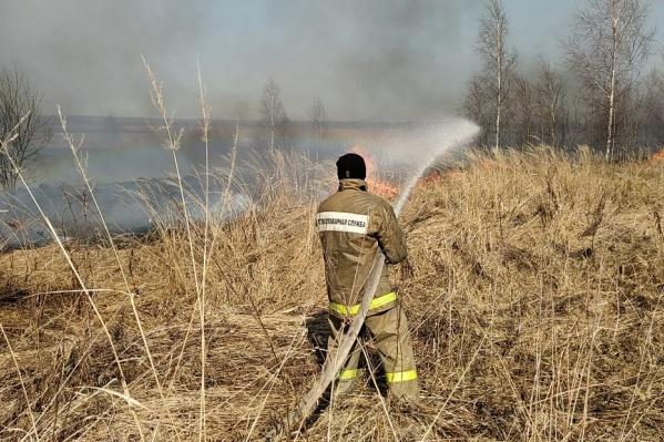 Огонь вплотную подобрался к жилым поселениям