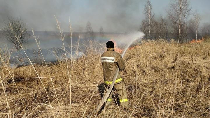 «Пламя обжигало руки»: в Ростовском районе пожарный спас жительницу села, окруженного горящими полями