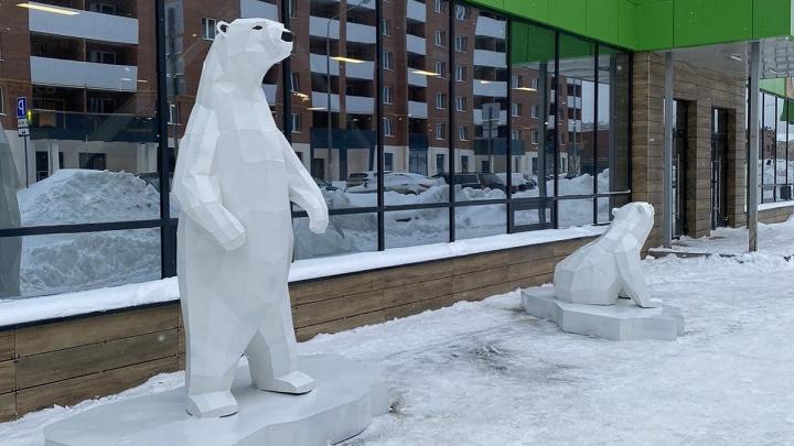 В «Новой Самаре» поселились необычные жильцы — белый медвежонок Умка и его семья