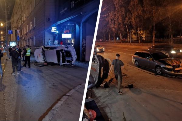 Авария произошла в районе 22 часов