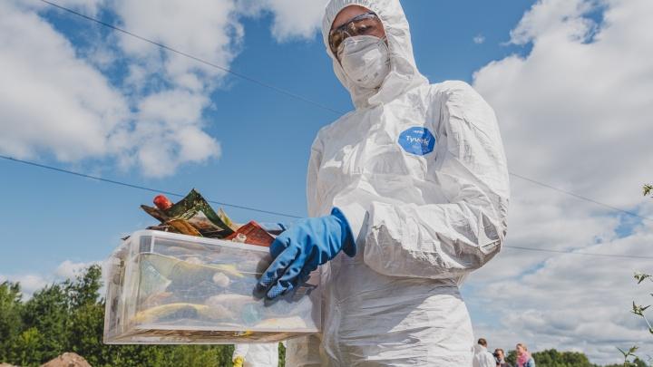 «Многое вообще нельзя выбрасывать»: в Пермь приехали активисты «Гринпис», чтобы разобрать наш мусор