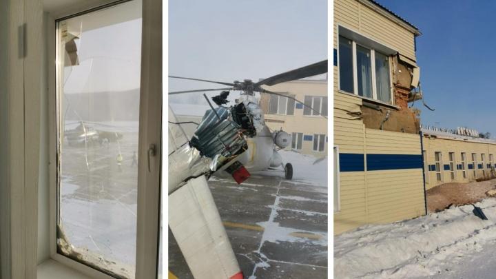 Вертолет в Богучанах при рулёжке повредил три здания и еще одно воздушное судно. Возбуждено уголовное дело