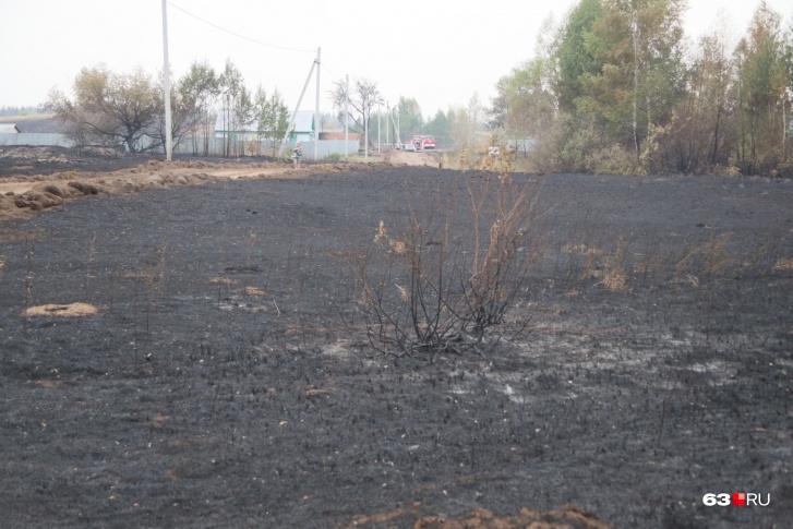 После разгула стихии осталась только выжженная земля