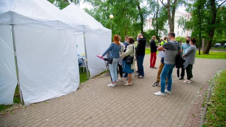 Альтернатива очередям в ТЦ: в Петровском парке последний день вакцинации под открытым небом
