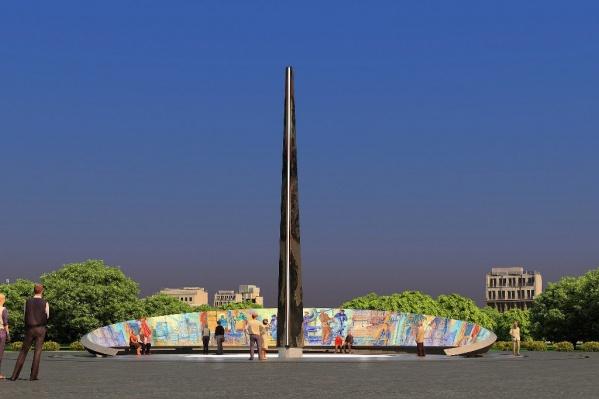 Высота стелы — 20 метров, стоимость — 30 миллионов рублей