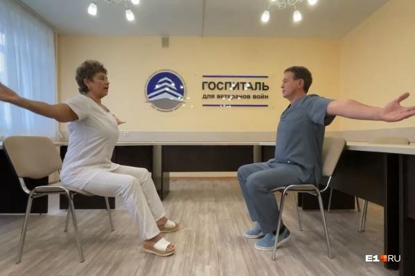 В госпитале ВОВ с мая 2020 года лечат ковид. Коллектив врачей разработал комплекс упражнений, который помогает увеличить объем легких после COVID-19