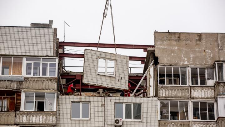 В Ярославле начали разбирать взорвавшийся на улице Батова дом. Видео