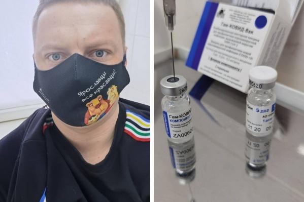 Депутат муниципалитета Дмитрий Соколов сделал прививку на днях