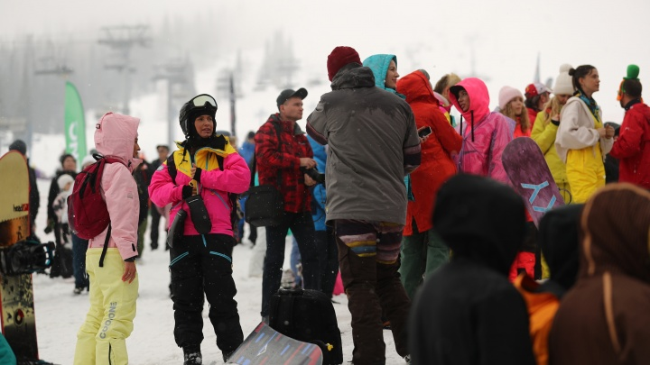 В Шерегеше с горы спустятся почти 3 тысячи человек в купальниках. Самому взрослому — 77 лет