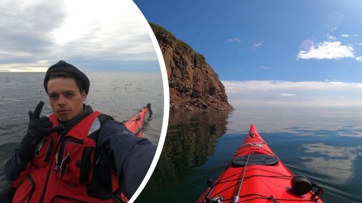 Путешественник рассказал, как проплыл за месяц 1000 км на каяке из Архангельска до Мурманска