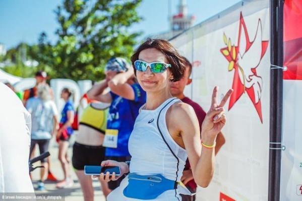 """Тамила пришла к финишу первой в своей возрастной категории, одолев <nobr class=""""_"""">10 километров</nobr> <nobr class=""""_"""">за 38 минут</nobr>"""