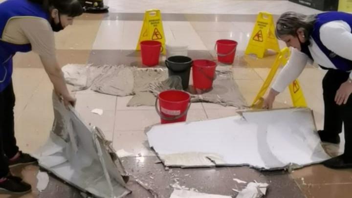 Прокуратура выяснила, что место падения гипсокартона в «Атриум-Кино» вовремя не огородили