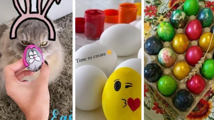 Жители Екатеринбурга отпраздновали Пасху расписными яйцами и куличами
