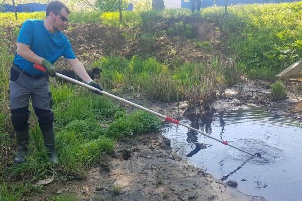 В Ярославле проверили состояние реки Норы, впадающей в Волгу