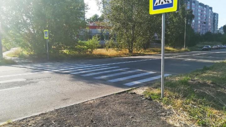 «Кушайте, не обляпайтесь!»: в Ярославле сделали пешеходный переход в кусты