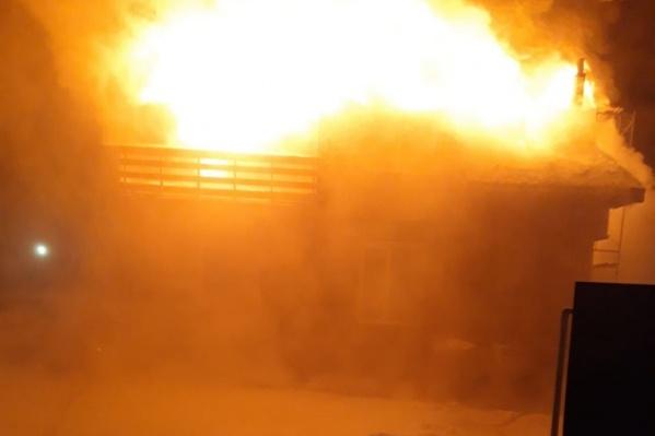 Пожар произошел утром 24 января