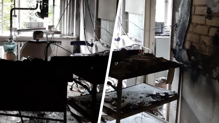 В Ярославле ночью горела областная стоматология: комментарии МЧС и очевидцев
