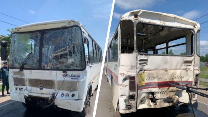 В Котласе столкнулись два автобуса. Пострадали восемь человек