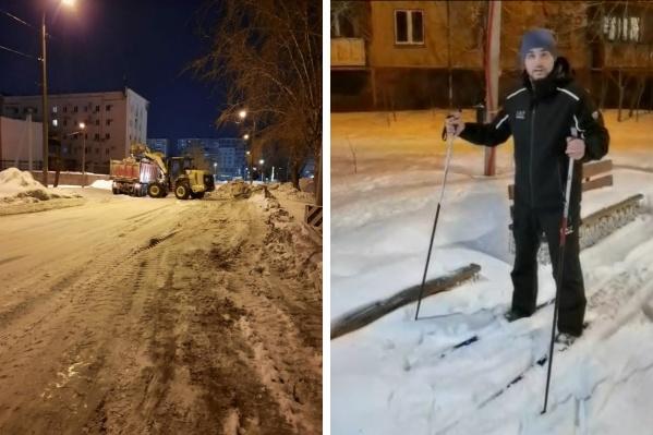 Это уже не первый экстравагантный рейд Дмитрия Ларина, ранее он уже катался по району на коньках