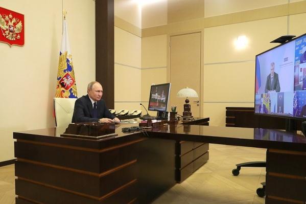 Президент вел совещание из своей резиденции в Ново-Огарёво