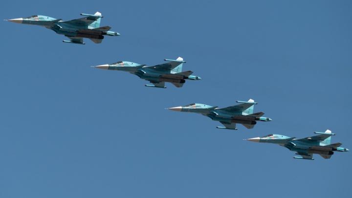 Штурмовики над Доном: военные отрепетировали воздушный парад ко Дню Победы — фото