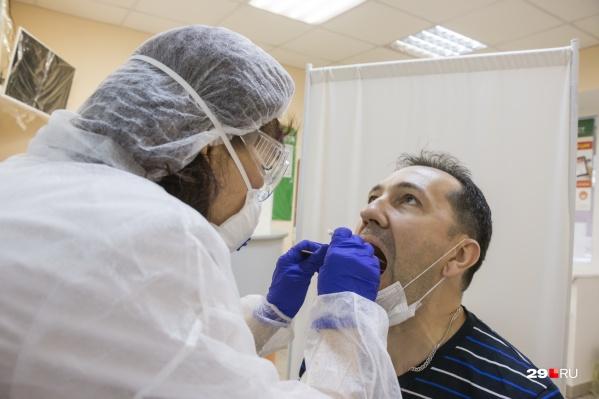 Больше всего заразившихся COVID-19 в Новодвинске и на юге области — в Котласском районе