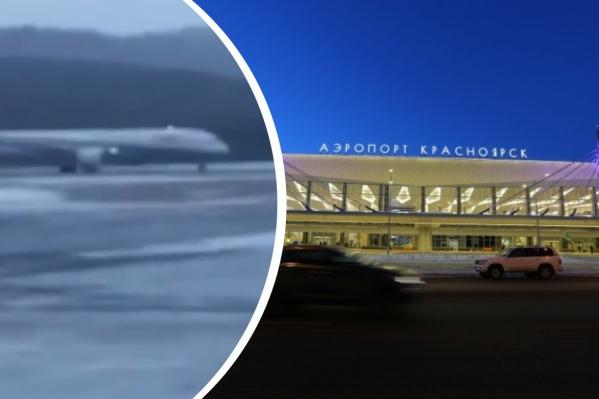 Боинг, летевший из Японии, сел в аэропорту Красноярска из-за неполадок с двигателем