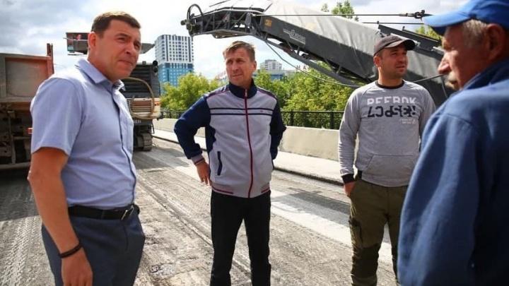 Куйвашев похвалил строителей, открывших часть моста на Луганской. Есть шанс на скорое завершение ремонта