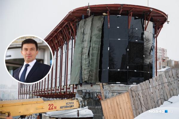 """Строительством кафе на набережной занимается компания экс-депутата Кемеровского совета <nobr class=""""_"""">Евгения Мордовина</nobr>&nbsp;"""