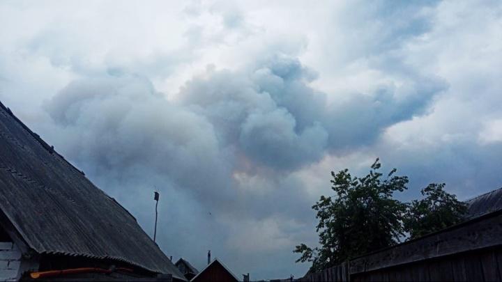 В районе Муллашей и базы отдыха «Куба» весь день горят лес и трава. Жители окраины Тюмени видят дым