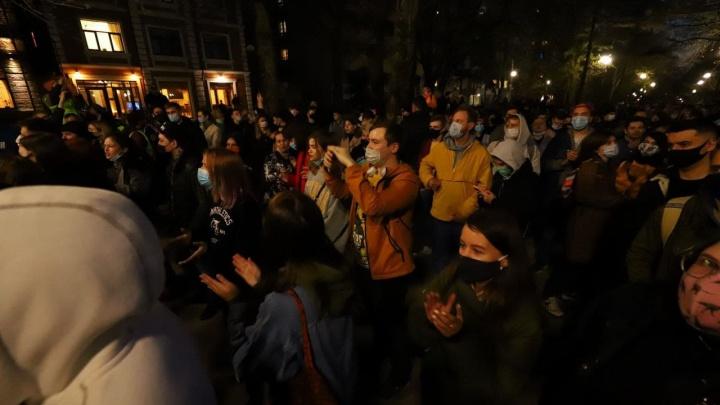 В Ростове началась акция протеста сторонников Навального