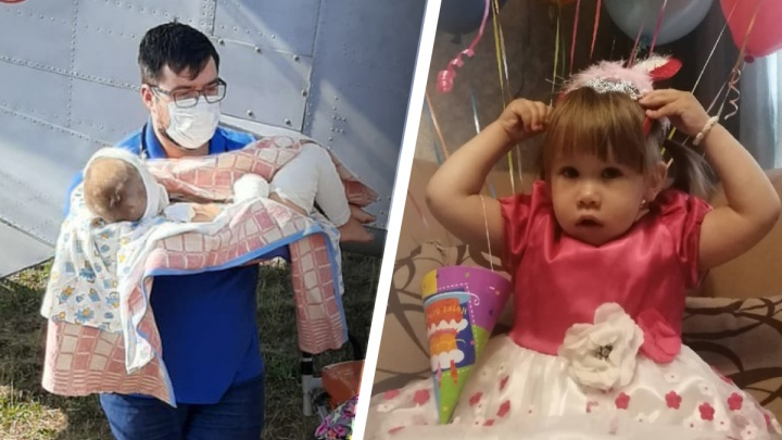 Из больницы в Екатеринбурге выписали трехлетнюю Алену, чудом выжившую в кошмарном ДТП под Саратовом