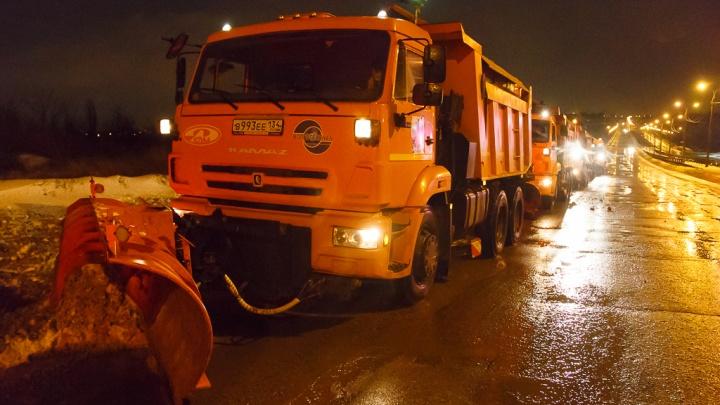 Сыро, но гололеда нет: волгоградские дорожники оказались готовы к снегопаду