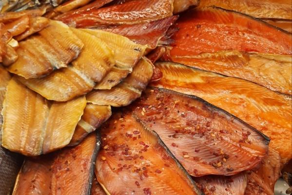 Известная сеть рыбных магазинов регулярно презентует выгодные цены на продукцию