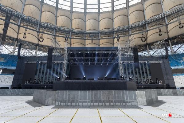 Организаторы концерта учли «немые зоны» арены