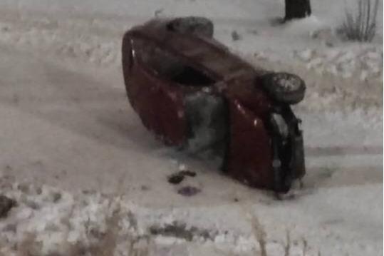 Неопытная автомобилистка слетела с Октябрьского моста