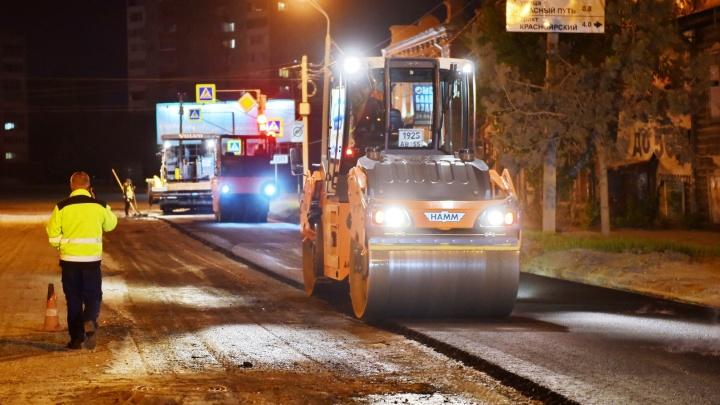 В Омске досрочно отремонтировали пять дорог