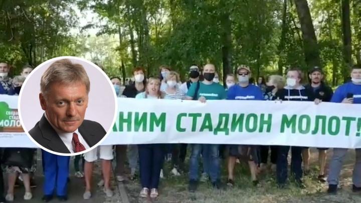 В Кремле прокомментировали штраф в 20 тысяч рублей для пермской активистки, записывавшей обращение к Путину
