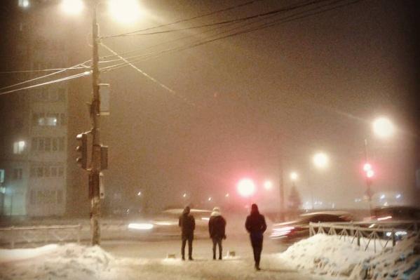 Вчера пермяки наблюдали зимний туман
